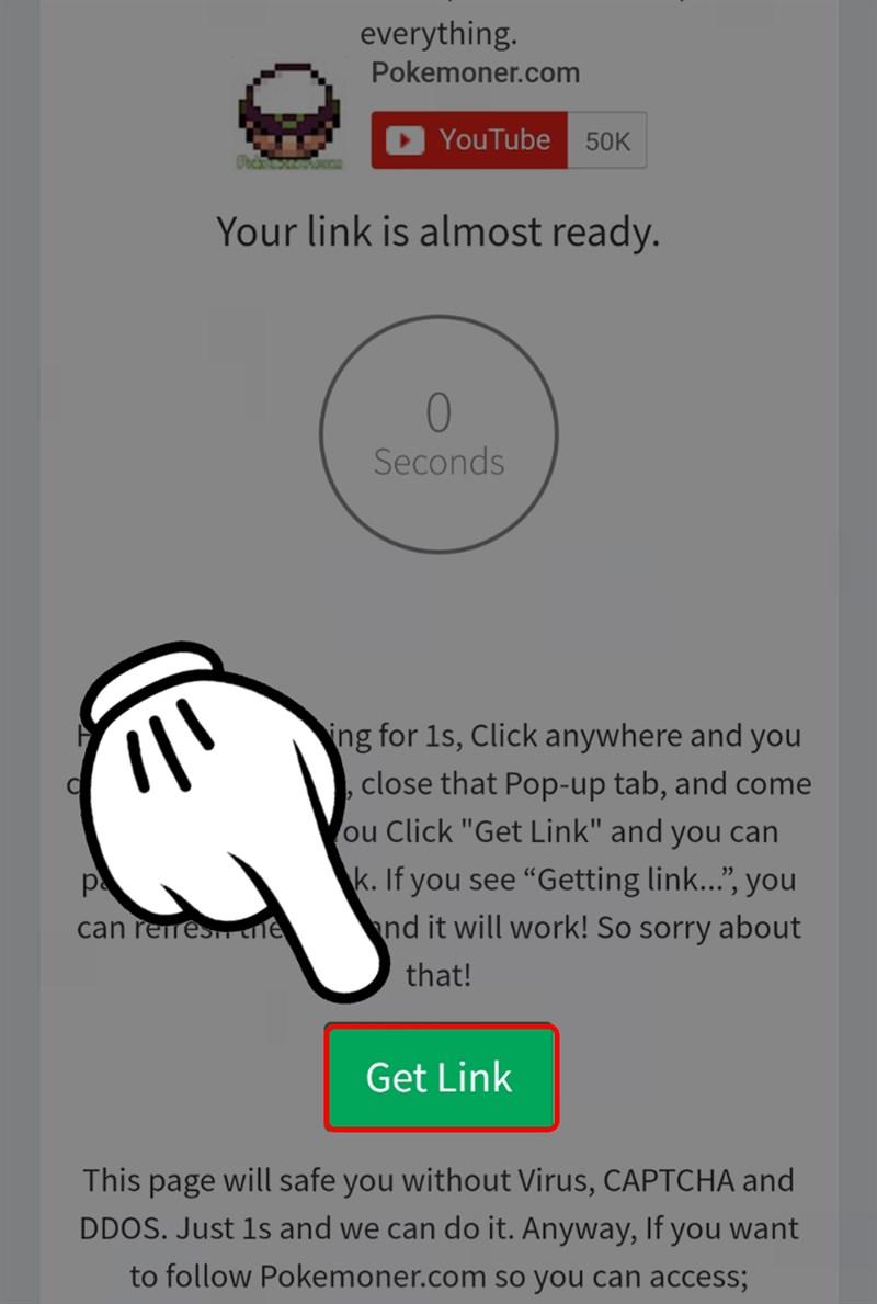 Chọn Get link và đợi download