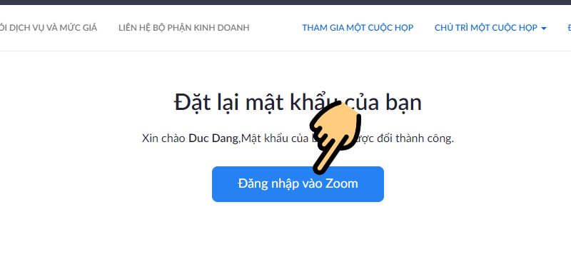 Lấy lại mật khẩu tài khoản Zoom