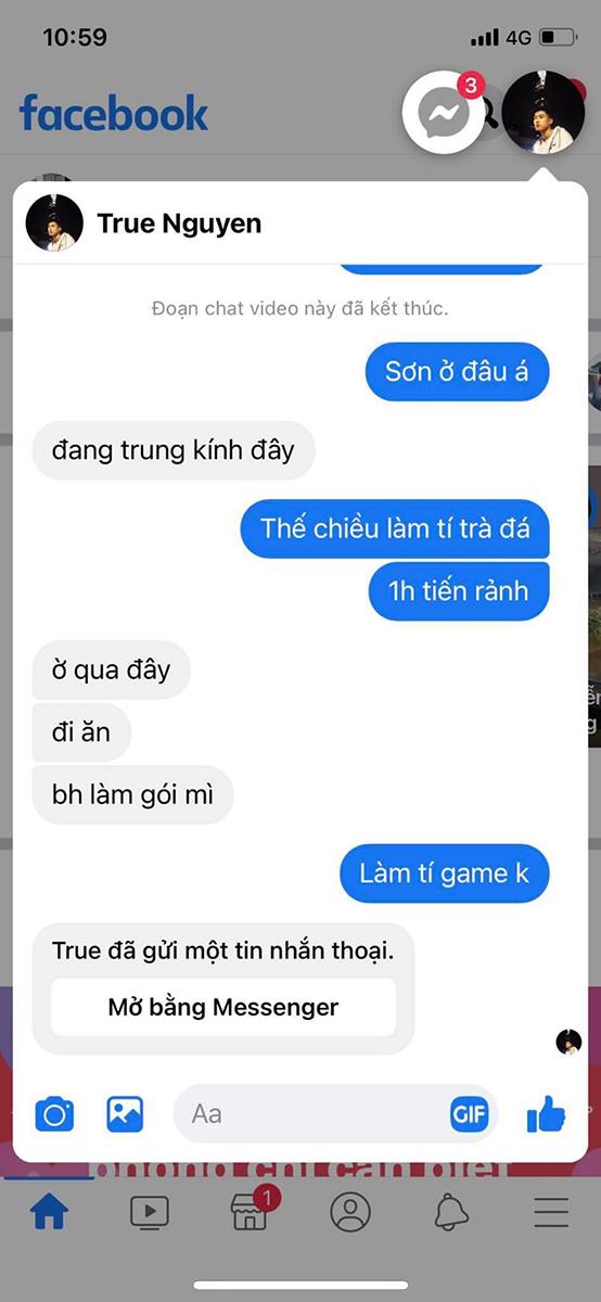 Bong bóng chat Messenger trên iOS