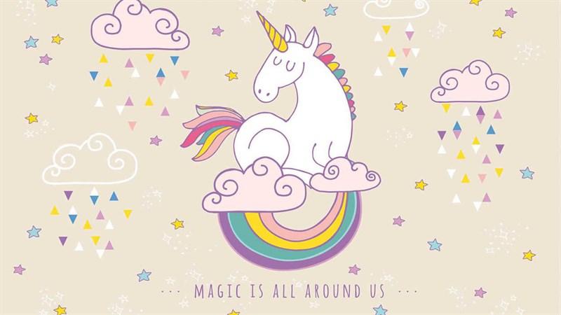 Hình nền Unicorn cute 1 - Kích thước 1920 x 1080