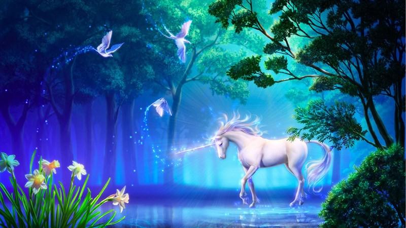 Hình nền Unicorn cute 6 - Kích thước 1920 x 1080