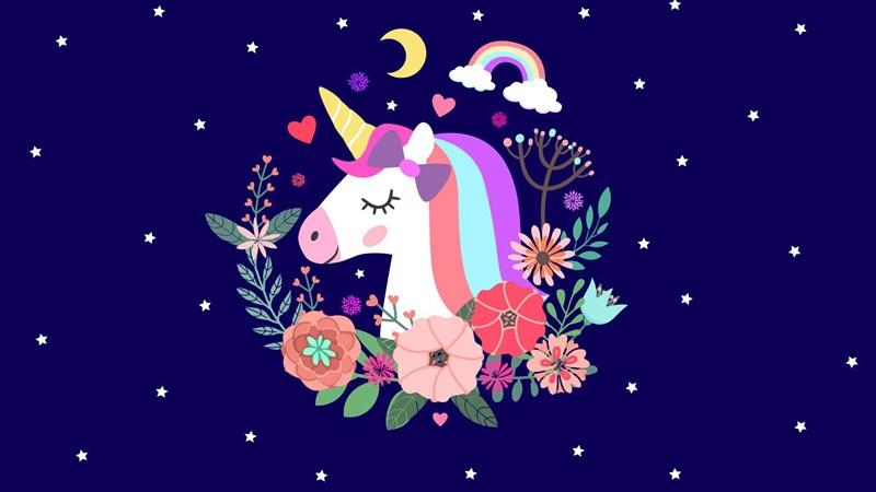Hình nền Unicorn cute 3 - Kích thước 1920 x 1080