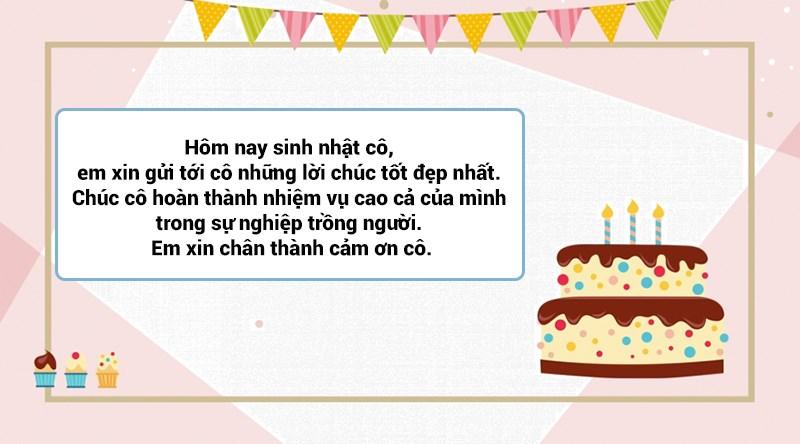 Lời chúc sinh nhật cho cô giáo