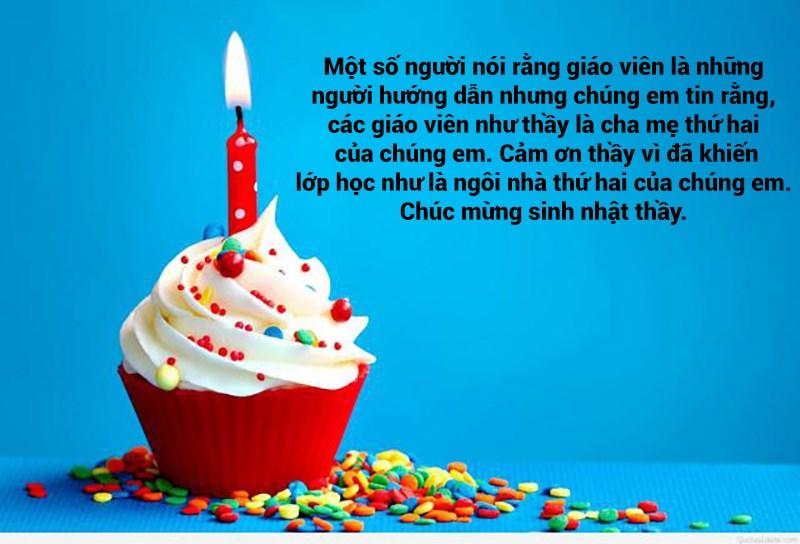 Lời chúc sinh nhật cho thầy giáo