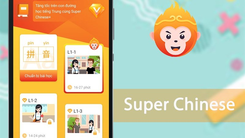 Ứng dụng Super Chinese - học tiếng Trung online từ cơ bản đến nâng cao
