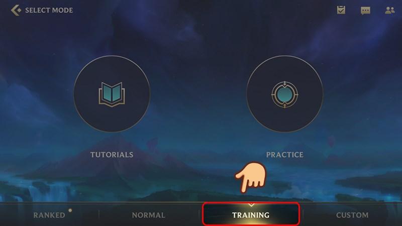 Chọn Training