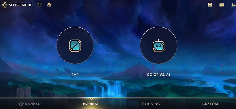 Hiện tại sẽ có 2 lựa chọn chế độ chơi trong Tốc Chiến