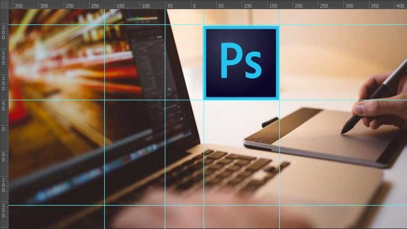 Bật mở hiện thước, sử dụng ruler đo khoảng cách trong Photoshop