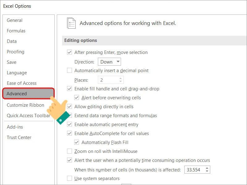 Cách mở thanh sheet khi bị ẩn, không hiển thị trong Excel