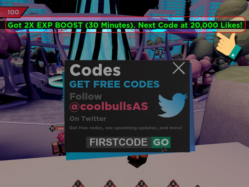 Notify you successfully entered the code