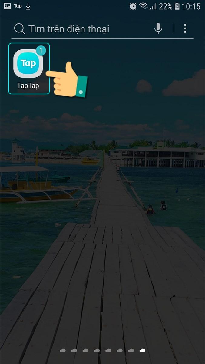Chọn ứng dụng TapTap