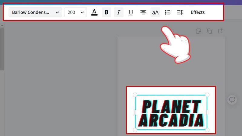Sử dụng các chức năng trên thanh công cụ để tạo kiểu chữ riêng theo ý mình