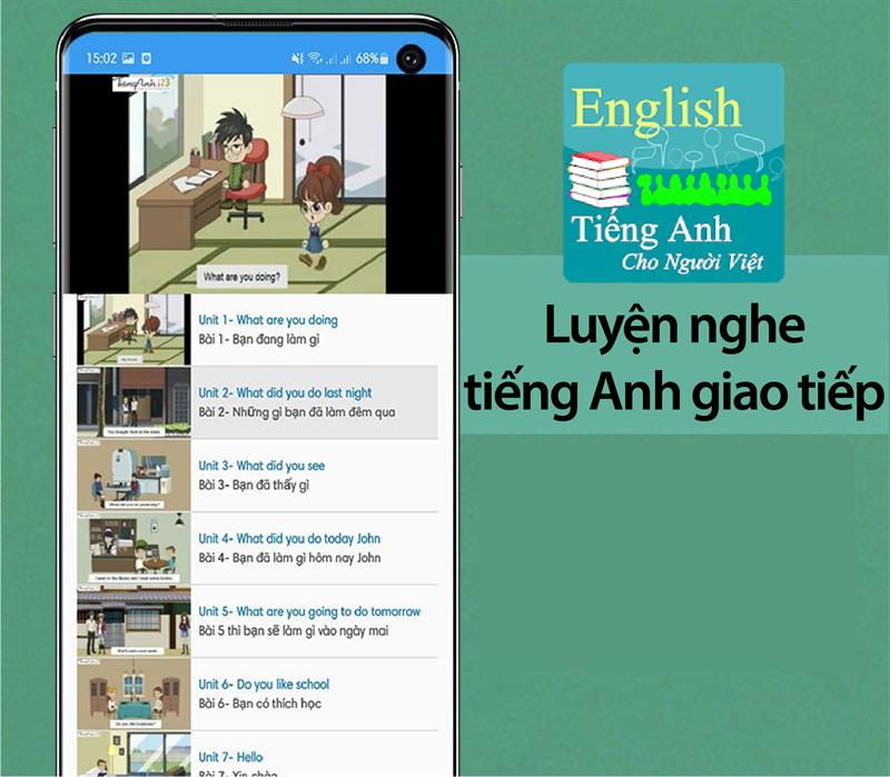 Ứng dụng luyện nghe tiếng Anh giao tiếp