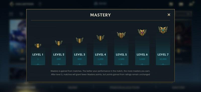 7 cấp độ thông thạo tướng