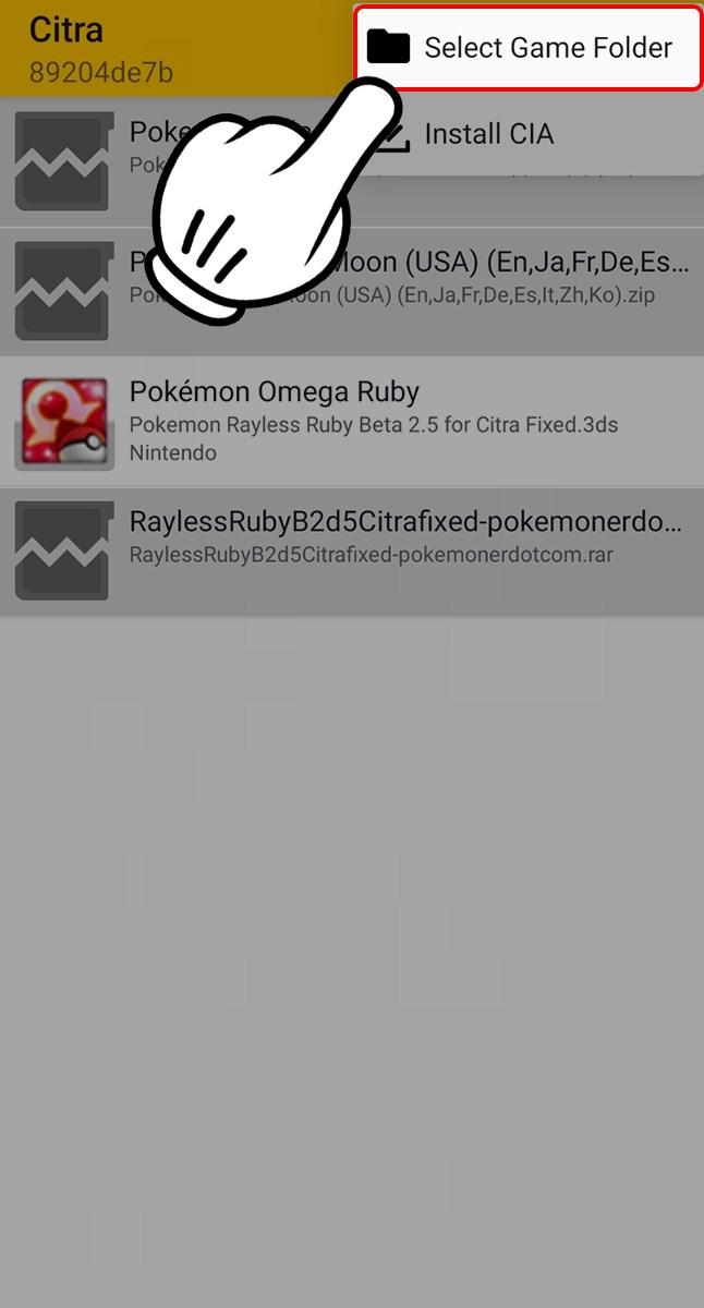 Chọn Select Game Folder