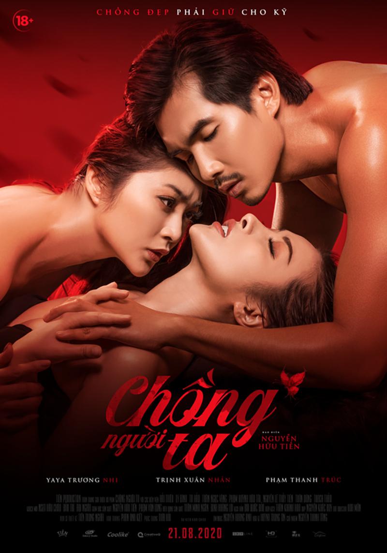 """Thanh Trúc – Yaya Trương Nhi và Trịnh Xuân Nhản đều công nhận đây chính là poster sexy và trần """"trụi nhất"""" của họ."""