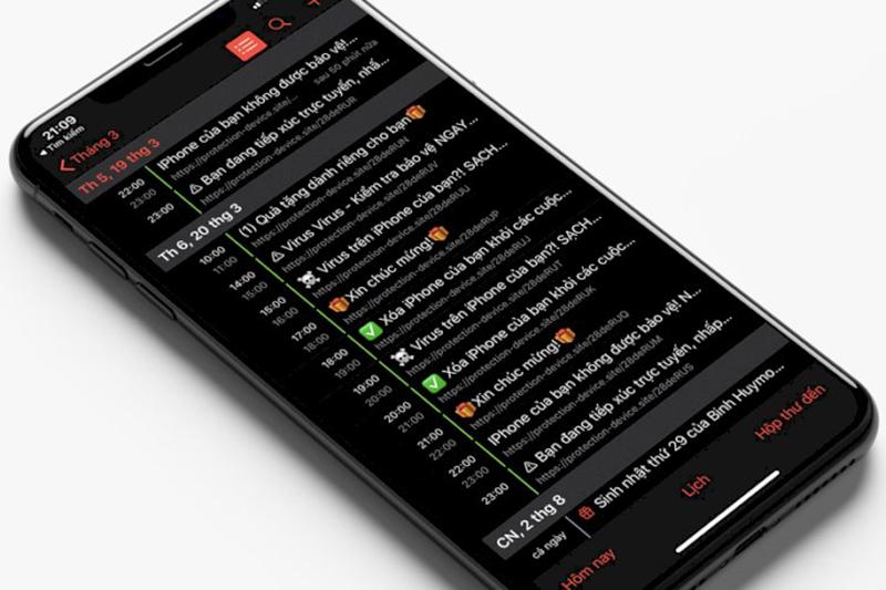 Cách xoá thông báo lạ trong ứng dụng Lịch iPhone