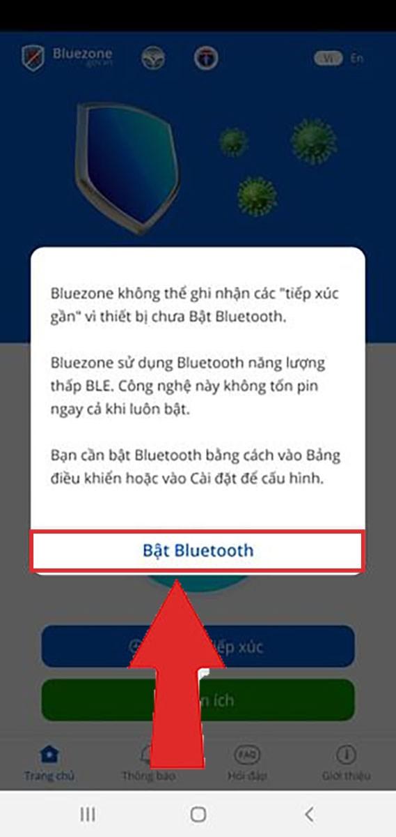 Cấp quyền sử dụng Bluetooth