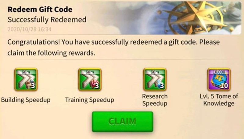 GiftCode game Rise of Kingdoms 5