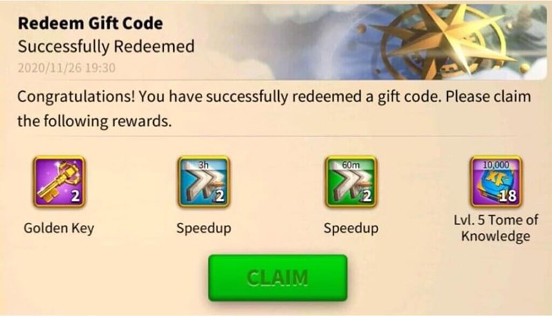 GiftCode game Rise of Kingdoms 6