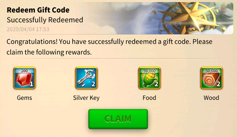 GiftCode game Rise of Kingdoms 7
