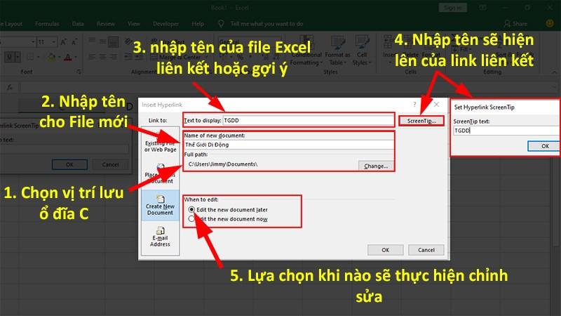 Cách tạo Hyperlink trong Excel đơn giản, chi tiết, có ví dụ
