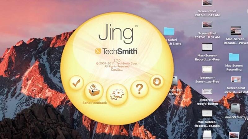 Phần mềm chụp màn hình Jing