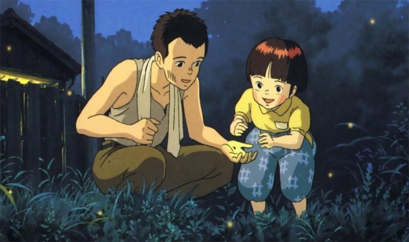 Seita và Setsuko bắt đom đóm đêm