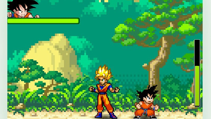Giao diện game Sức mạnh của Dragon Ball Z