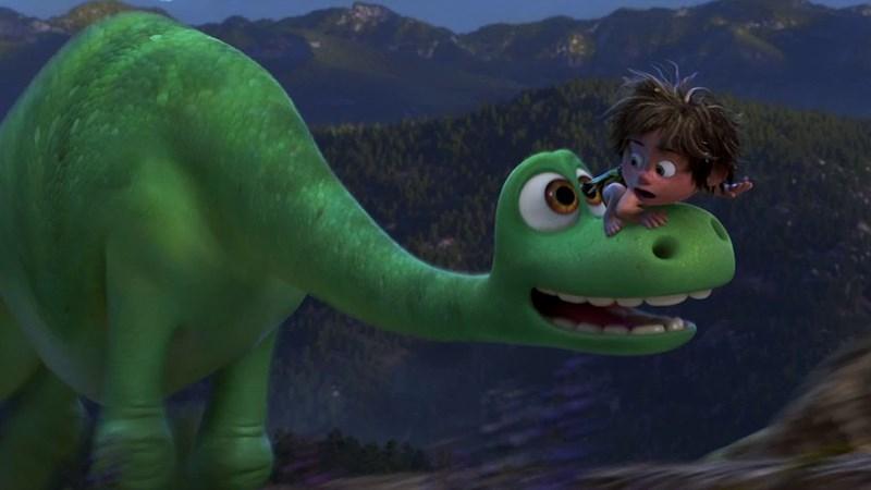 Tạo hình chú khủng long Apatosaurus và cậu bé Spot trong The Good Dinosaur
