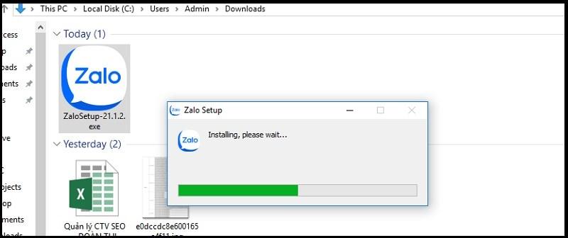 Nhấp 2 lần chuột để cài đặt phần mềm