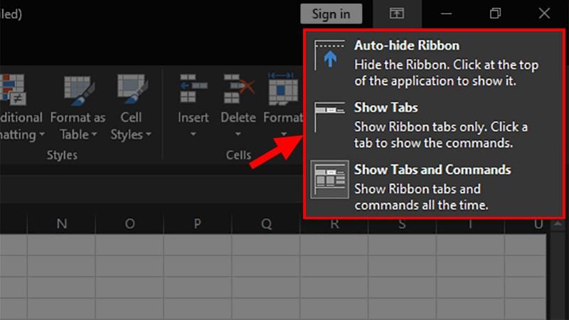 Cách hiện thanh công cụ bị mất trong Excel cho mọi phiên bản đơn giản