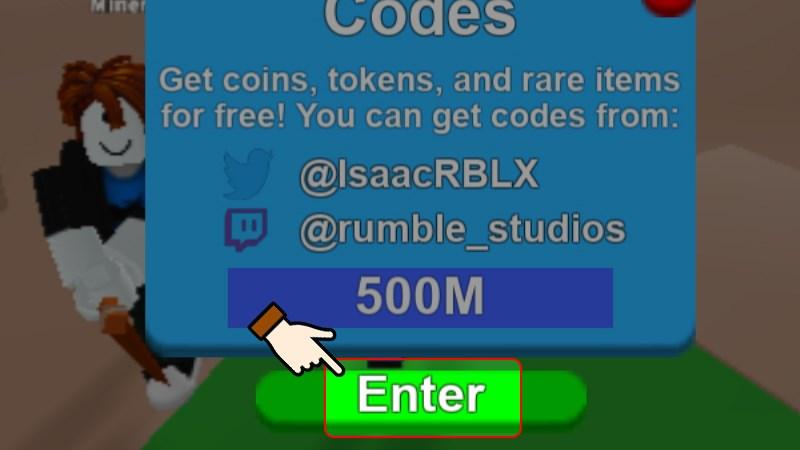 Nhấn chọn Enter để nhận quà