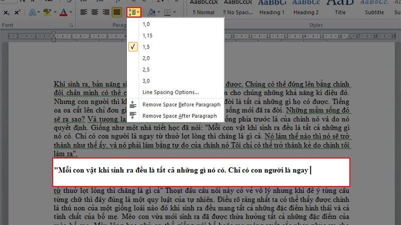 Cách xuống dòng trong Word không bị lỗi giãn cách cho mọi phiên phiên bản...
