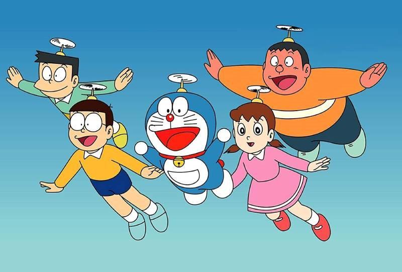 Một cảnh trong phim Doraemon