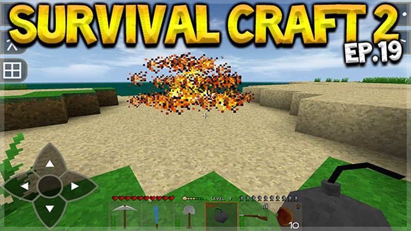 SurvivalCraft 2 yêu cầu bạn xây nhà, chế tạo vũ khí để trốn thoát và tiêu diệt lũ zombie