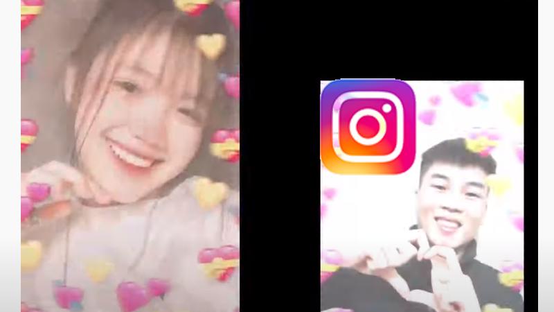 Cách quay video filter trái tim xung quanh trên Instagram