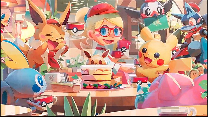 Pokemon Cafe Mix tạo ra một món ăn theo đúng yêu cầu khách hàng