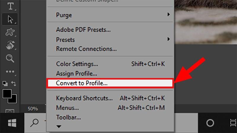 Chọn Convert to Profile…