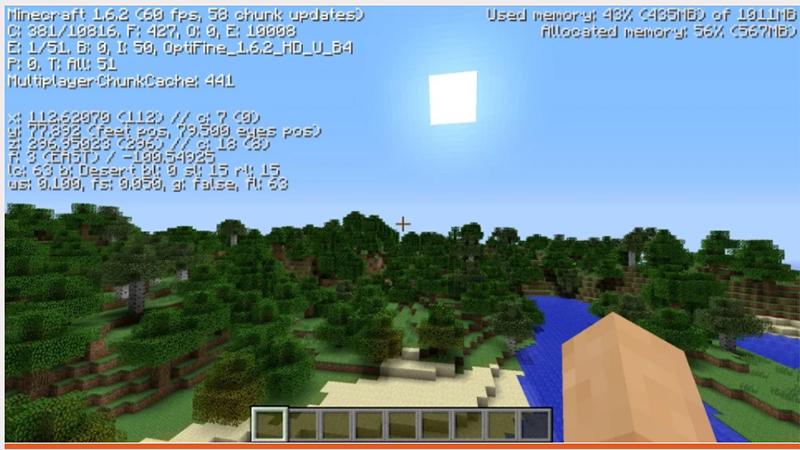 Optifine/ Fastcraft giúp nâng cấp độ phân giải của game lên HD