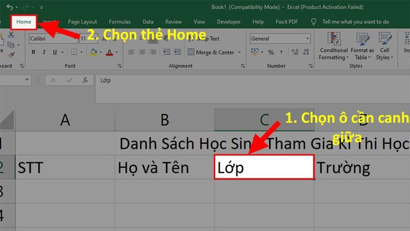 Hướng dẫn 6 cách căn chữ giữa ô trong Excel