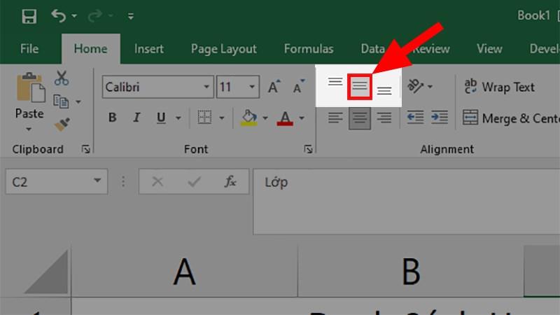 Cách căn chữ giữa ô trong Excel