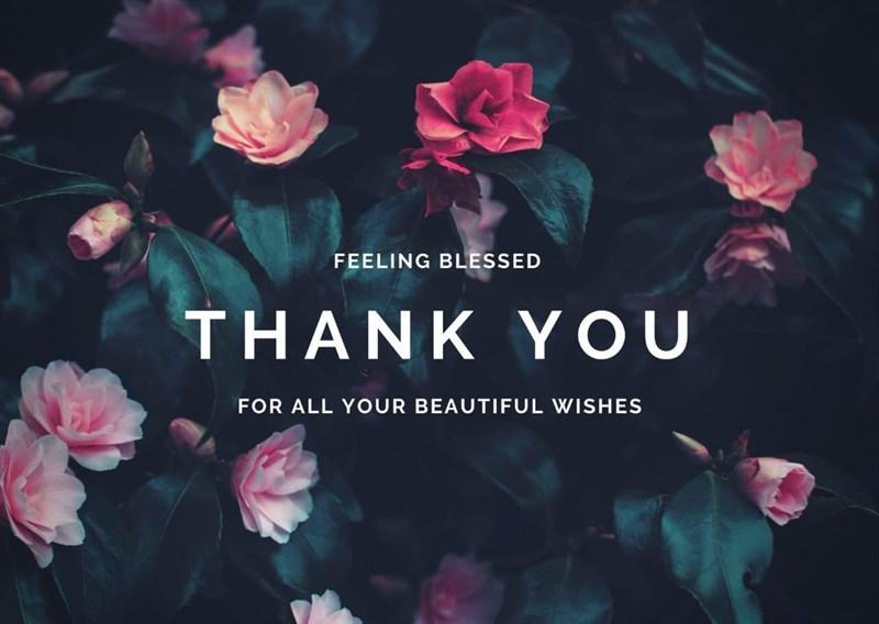 Ảnh cảm ơn đầy màu sắc với những bông hoa