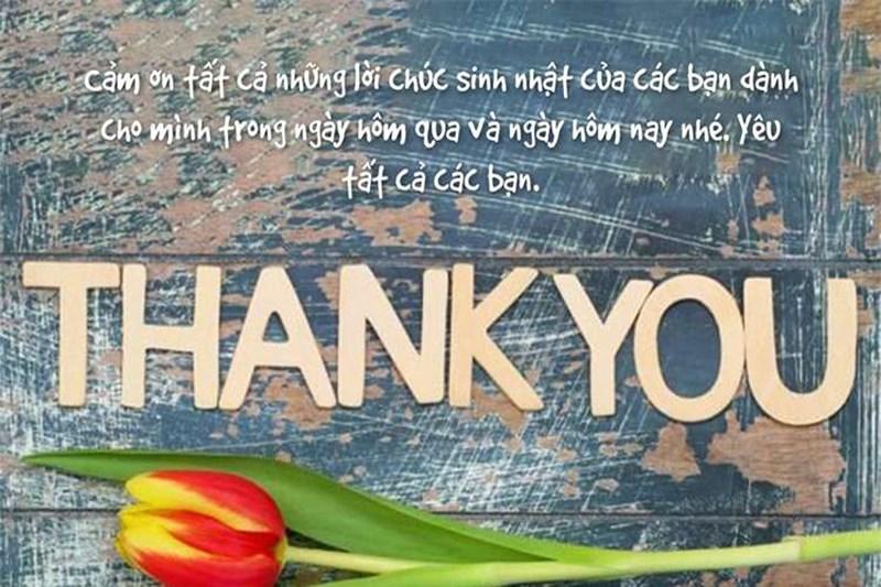 Ảnh cảm ơn kèm lời chúc đáng yêu