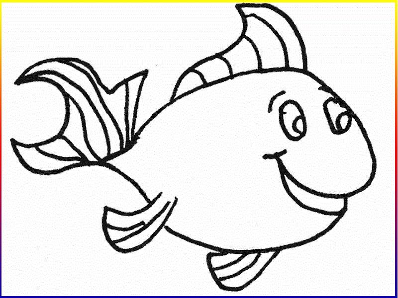 Ảnh cá tô màu cho bé đáng yêu, dễ thương
