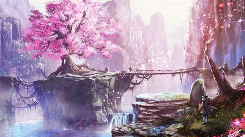 Ảnh nền hoa anh đào trong anime - 12 (Kích thước: 1920 x 1080)