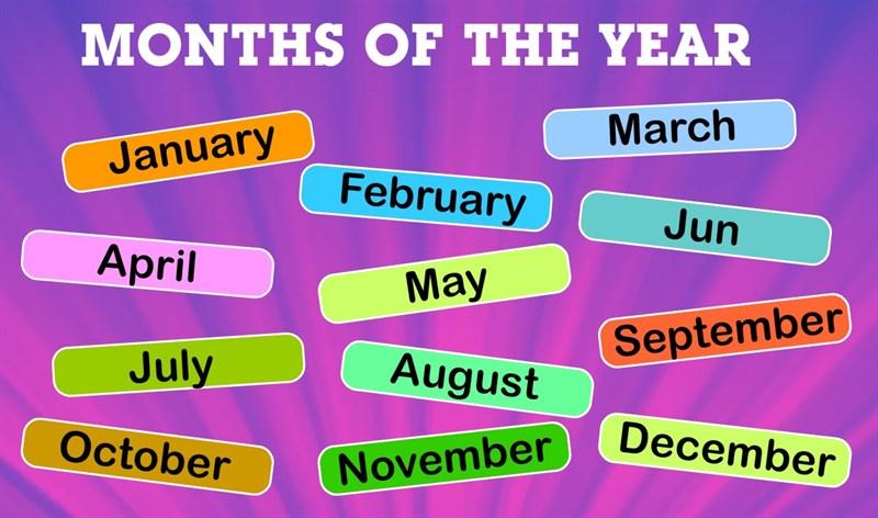 Ý nghĩa tên 12 tháng trong năm