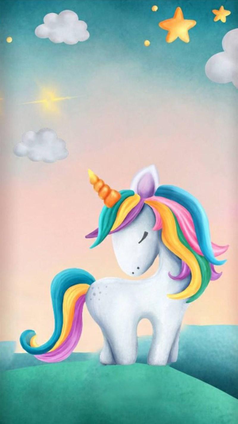 Hình nền Unicorn cute 18 - Kích thước 1920 x 1080