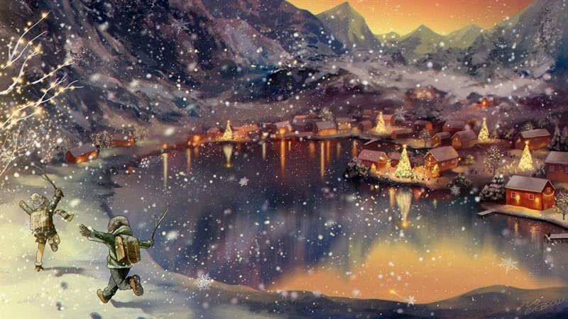 Hình nền anime mùa đông 3 (Kích thước: 1920 x 1080)