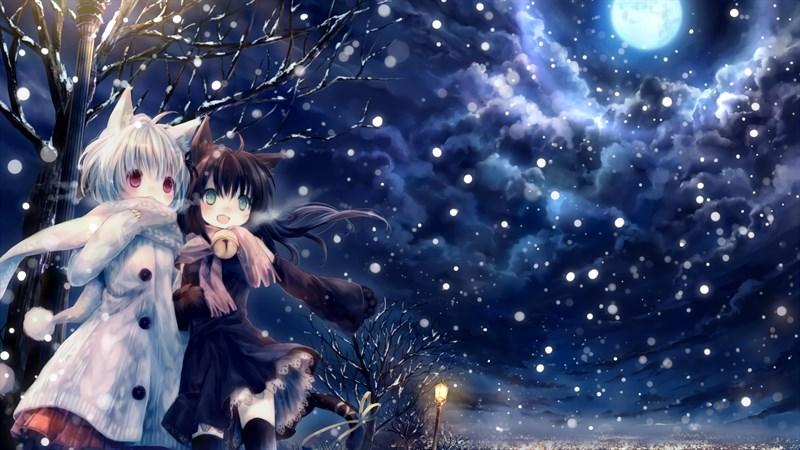 Hình nền anime mùa đông 4 (Kích thước: 1920 x 1080)